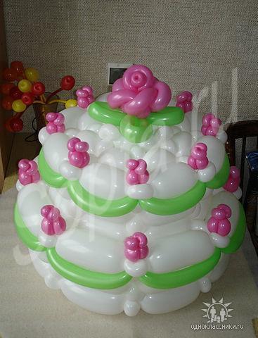 Как из шаров сделать торт 8